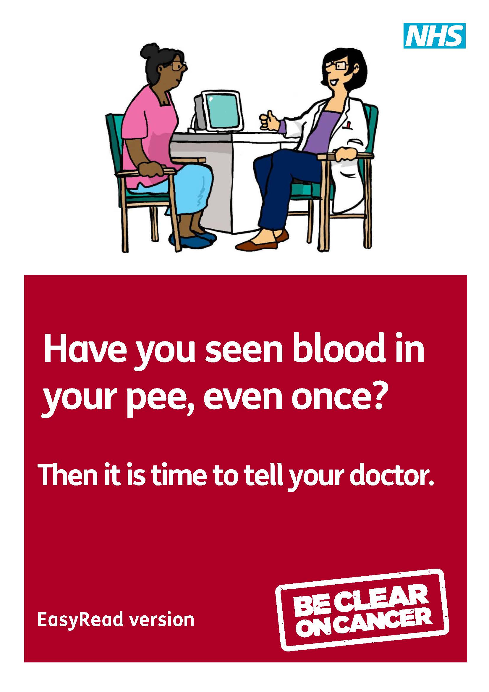 Blood in your pee   easy read